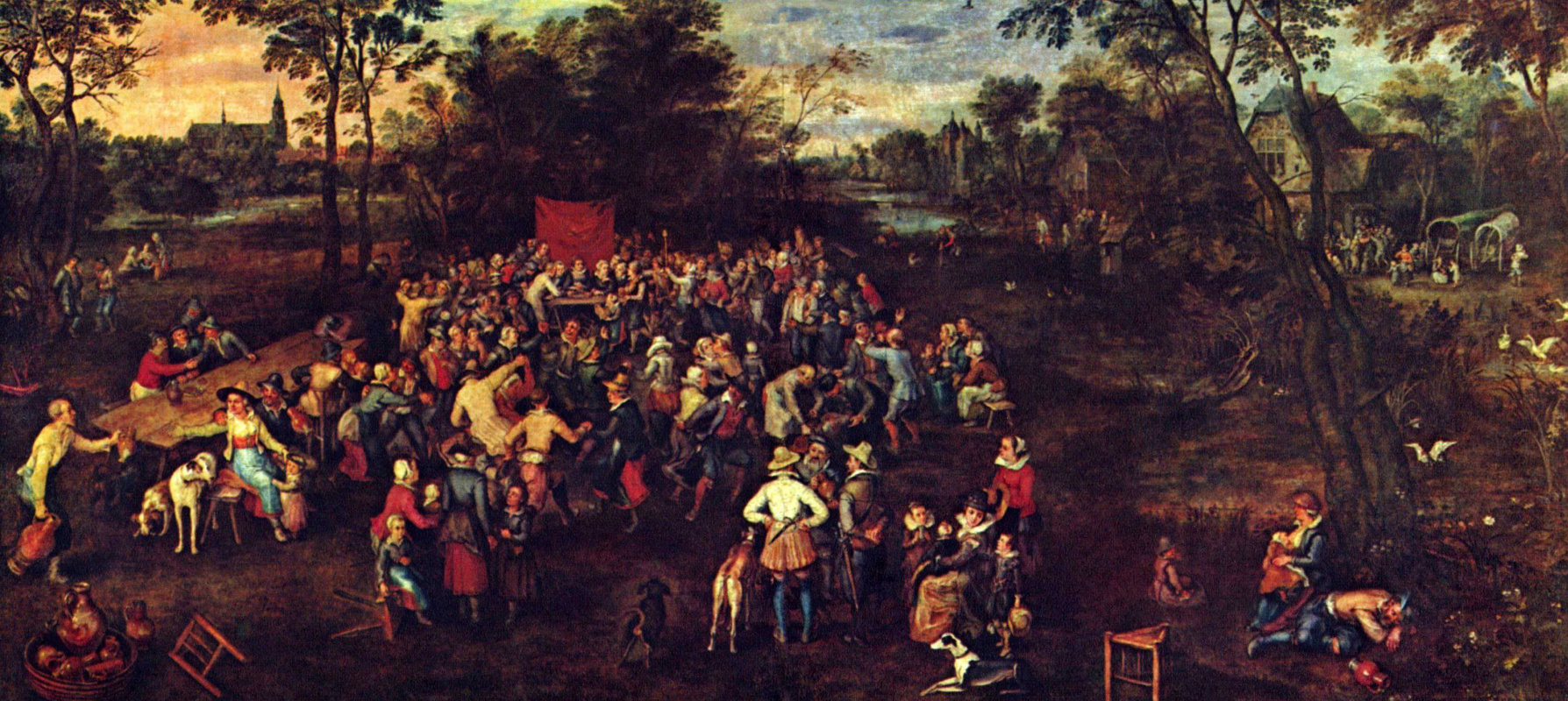 Jan Bruegel The Elder. The wedding feast