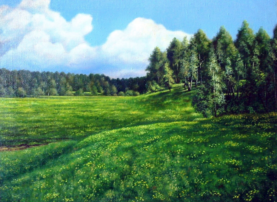 Vladimir Vasilyevich Abaimov. The Dandelion Glades