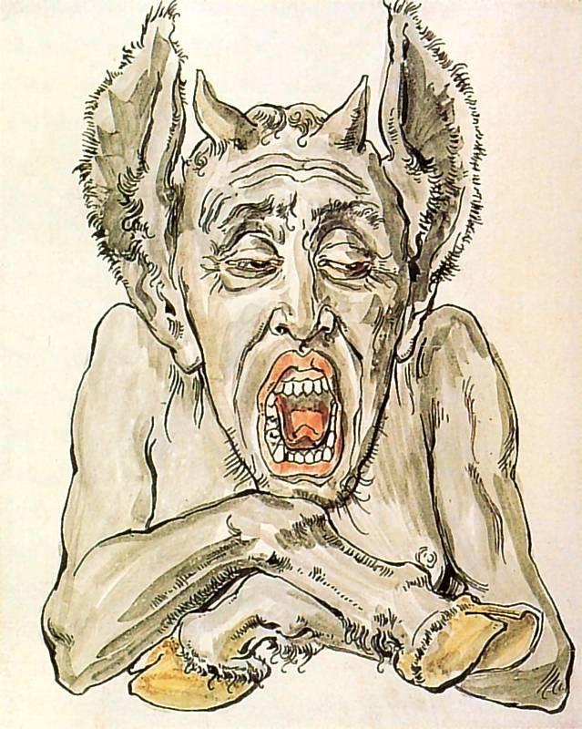 Ян Матейко. Зевающий демон. Проект для церкви Святой Марии