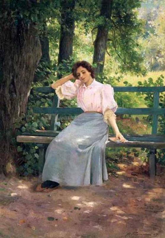 Илья Саввич Галкин. В парке. 1895