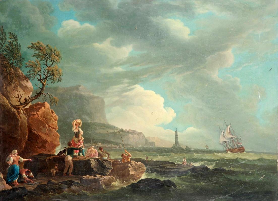 Пьер-Жак Волер Франция. The return of the fishermen.