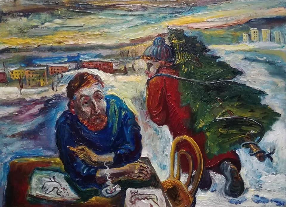 Natalya Moiseeva. Artist and New Year. And here again ...