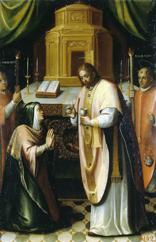 Мигель Барросо. Причастие Богоматери