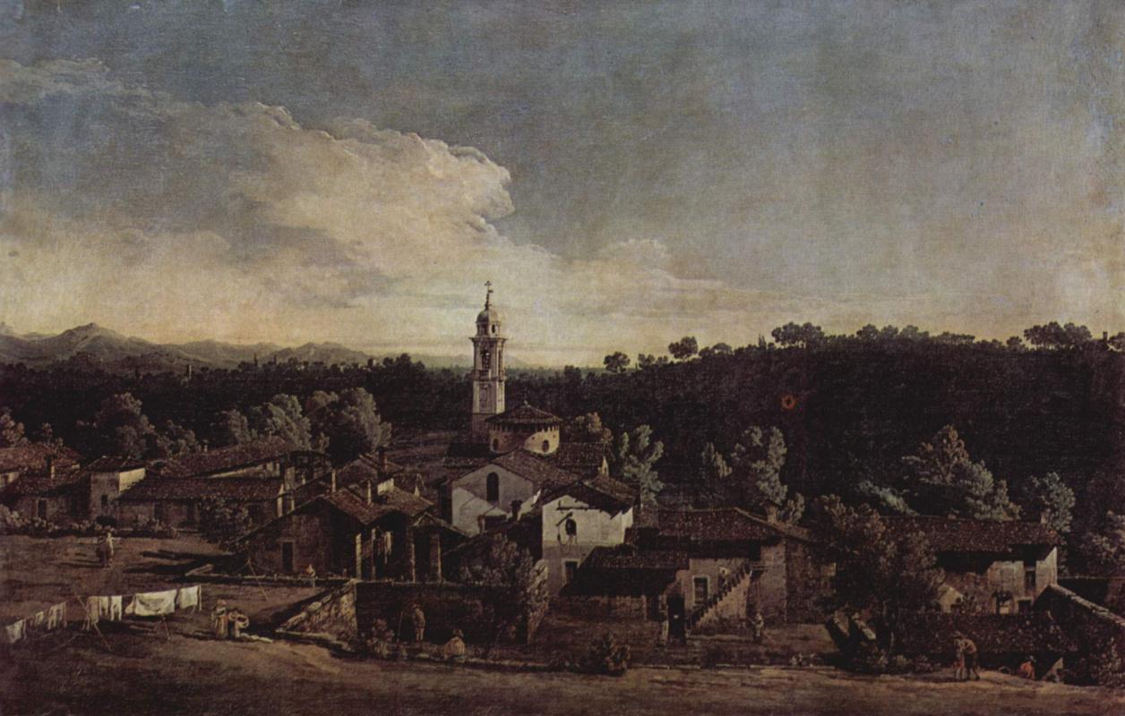 Джованни Антонио Каналь (Каналетто). Вид деревни Гаццада с южной стороны