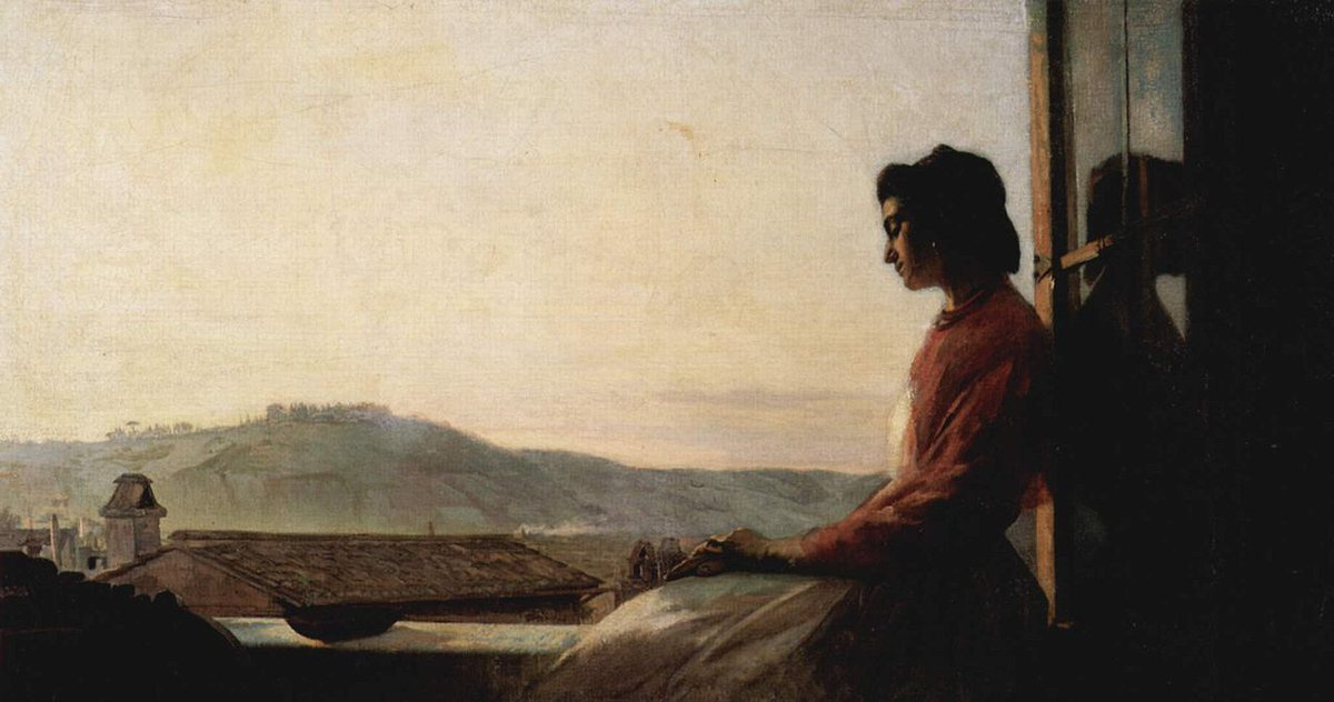 Pavel Petrovich Chistyakov. Giovannina sitting on a windowsill