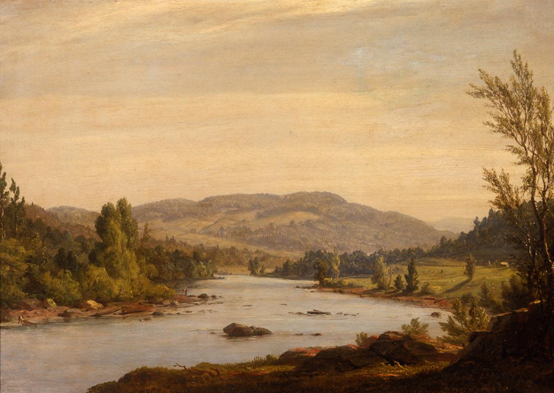 Сэнфорд Робинсон Гиффорд. Пейзаж с рекой (Сцена в Северном Нью-Йорке)