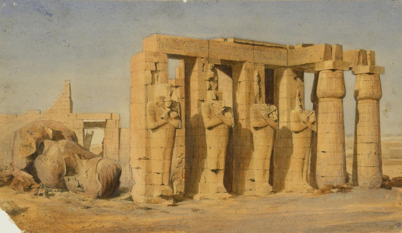 Joseph-Philibert Giraud de Prandje. Ramesseum, Thebes