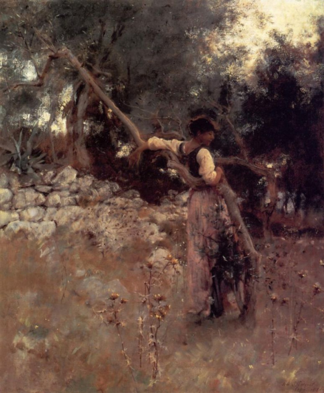 John Singer Sargent. The girl from Capri