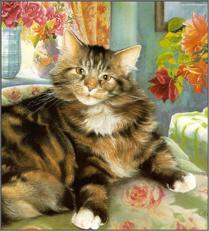 Крисси Снеллинг. Кот в розах