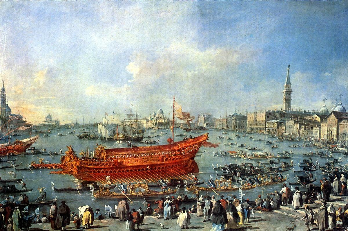 Francesco Guardi. Bocentruce sails