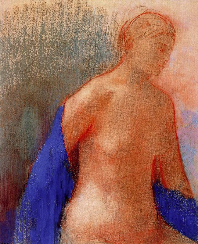 Одилон Редон. Обнаженная и синяя вуаль