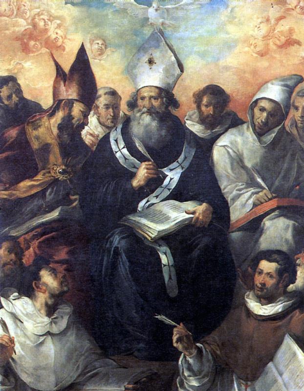 Francisco de Herrera Elder. St. Basil the Great, outlining his teachings