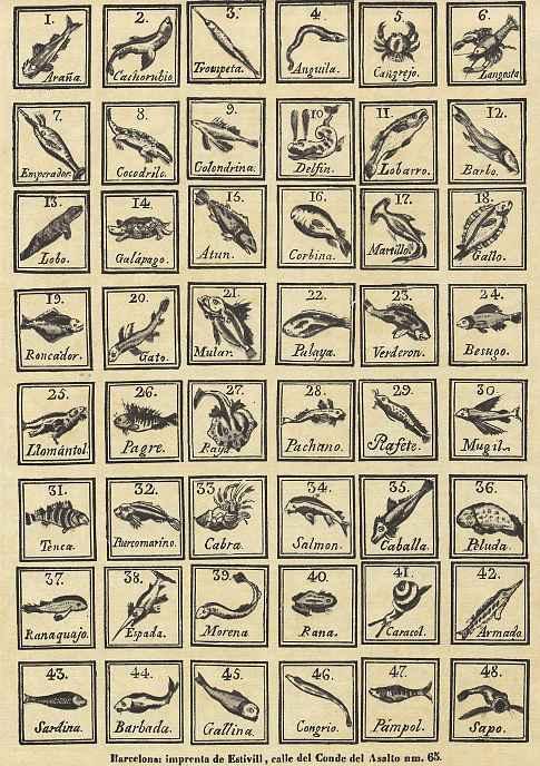 Ксилограф из печатни Эстивиль в Барселоне. Морские животные