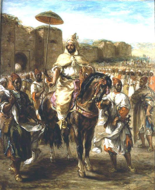 Eugene Delacroix. A portrait of the Sultan of Morocco, Muley Abd-El-Rahman