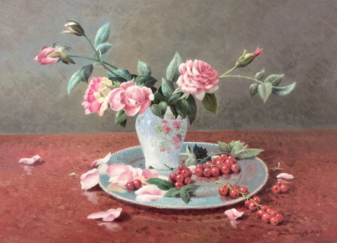 Vasily Ivanovich Gribennikov. Натюрморт с розой