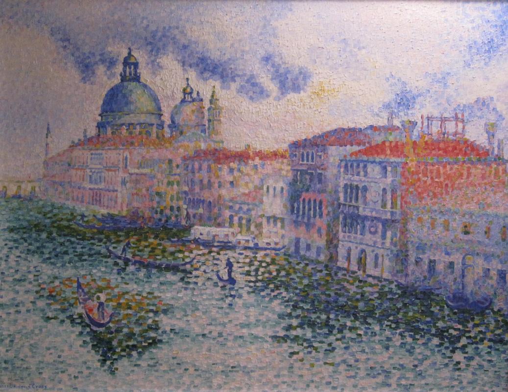 Henri Edmond Cross. The Grand canal and the Palazzo da Mula