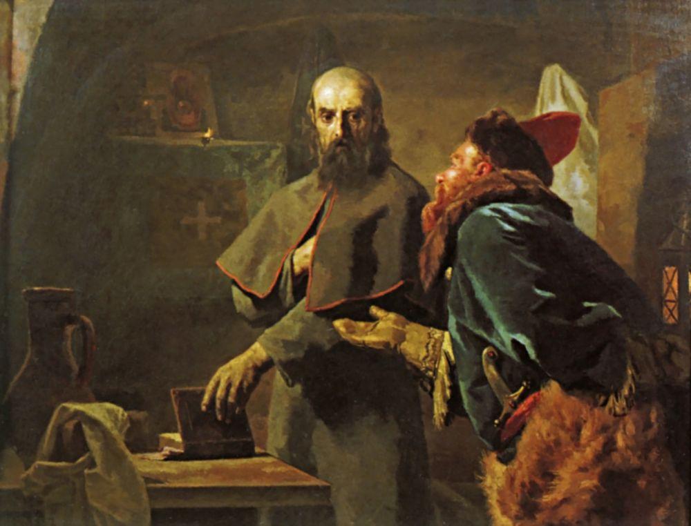Николай Васильевич Неврев. Последние минуты митрополита Филиппа