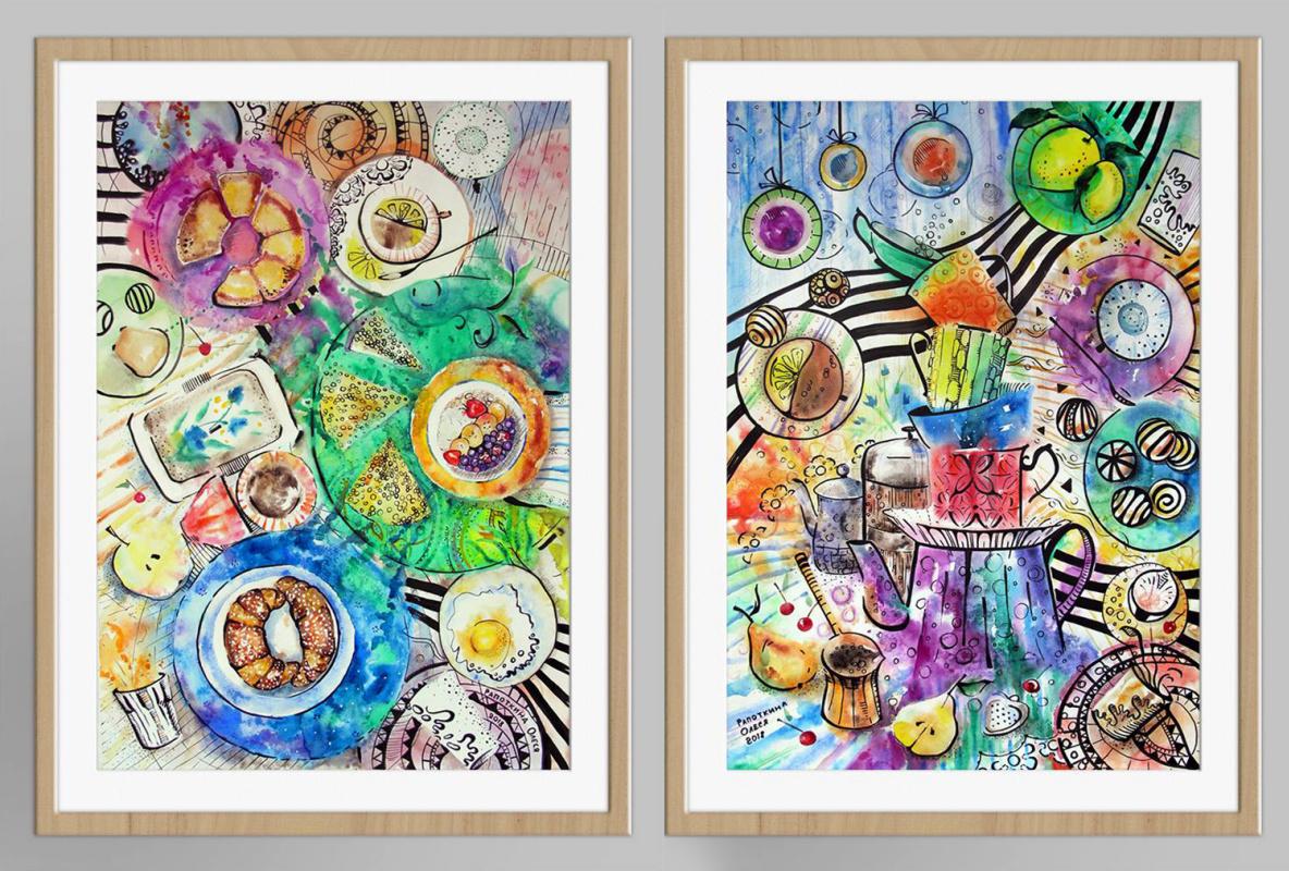 Olesya Rapotkina. Breakfast. A series of two works