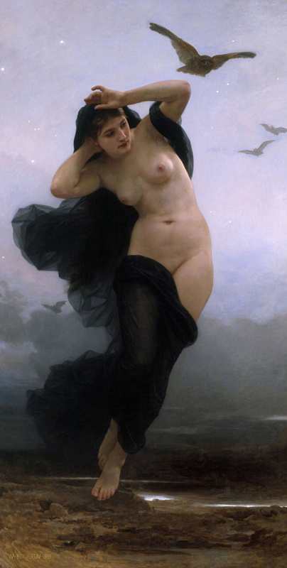 William-Adolphe Bouguereau. Night