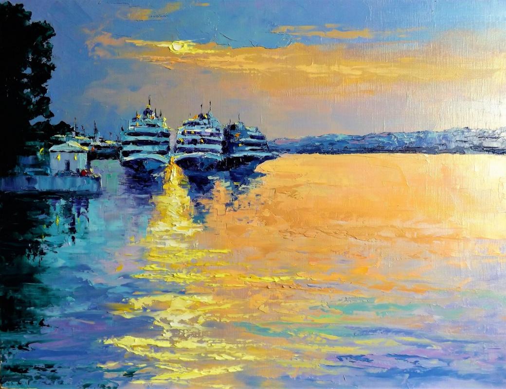 Sergey Yurievich Efremov. Sunset on the Volga