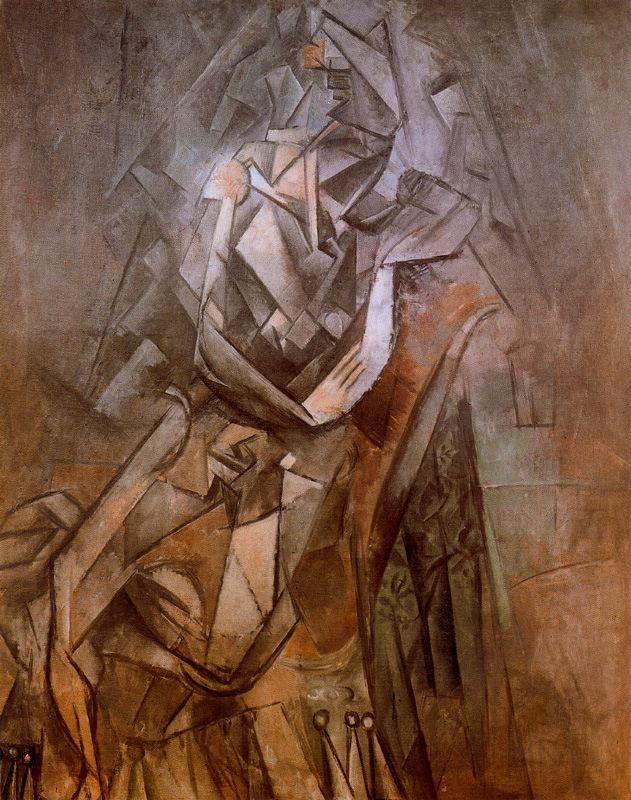 Пабло Пикассо. Женщина, сидящая в кресле