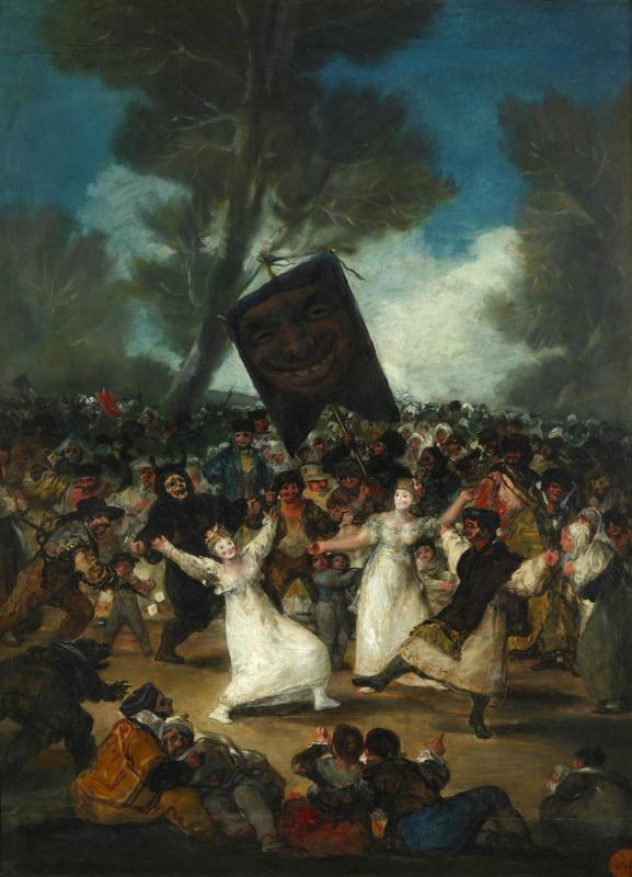 Francisco Goya. Burial Of The Sardine