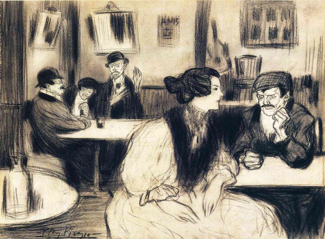 Пабло Пикассо. В кафе