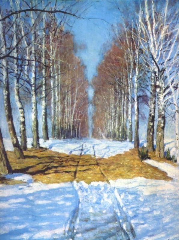 Igor Grabar. Birch alley
