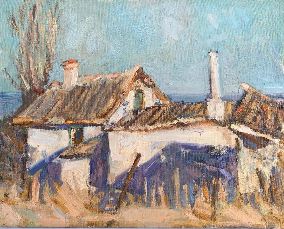 Alena Sukhoborova-Kazarina. House by the sea. Kerch