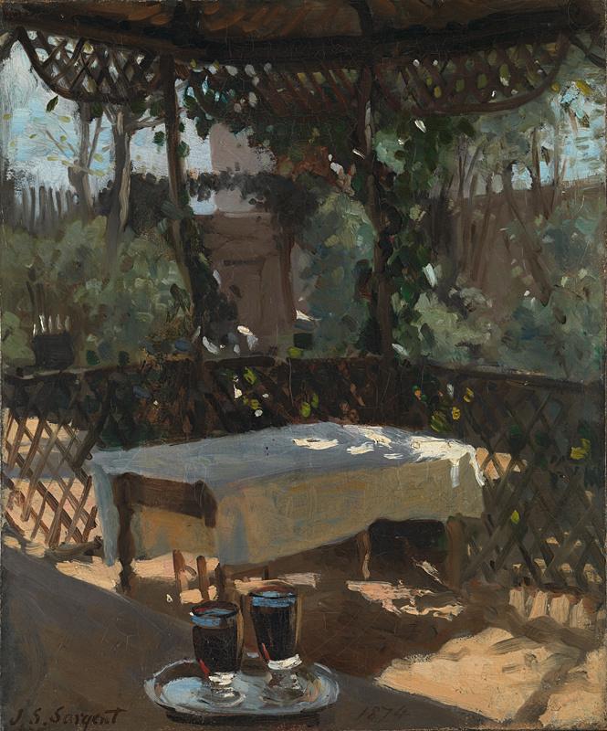 John Singer Sargent. Wine glasses