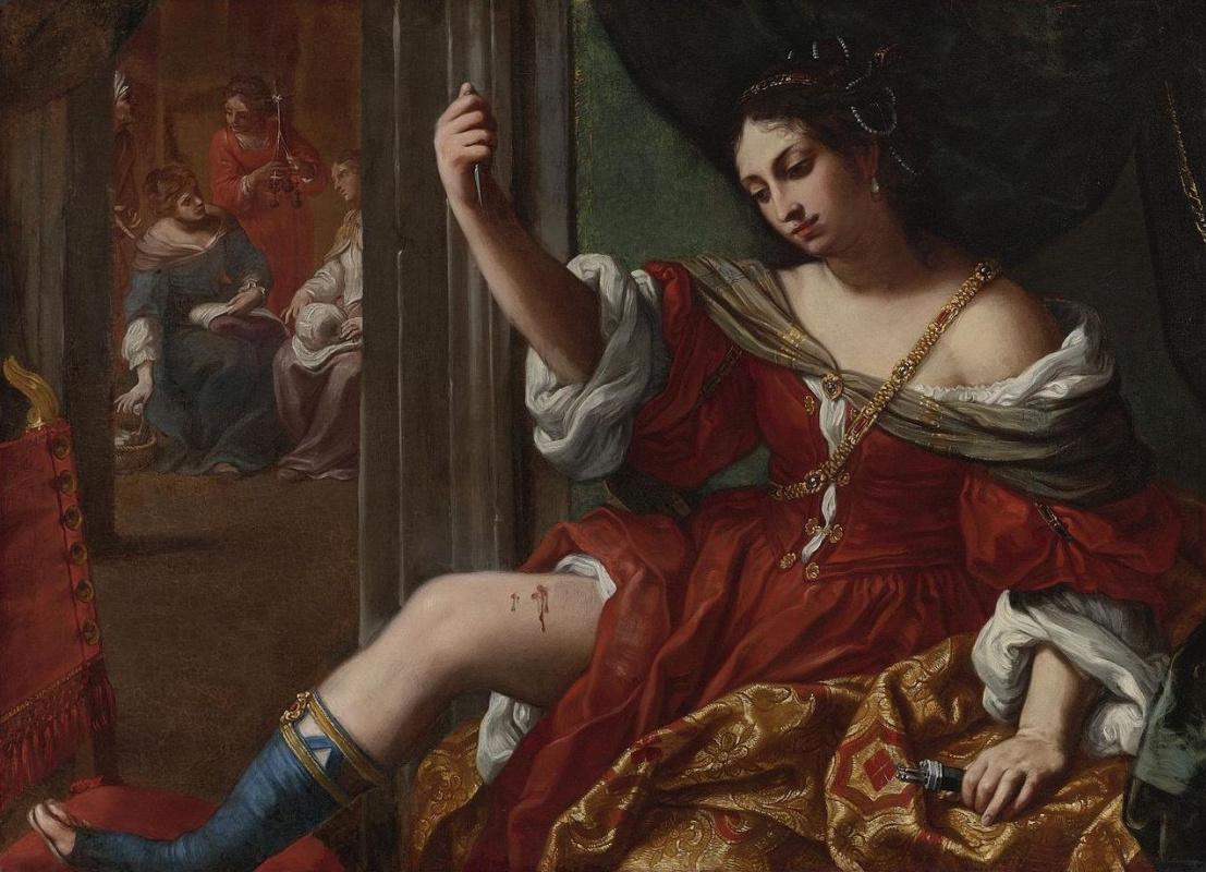 Elisabetta Sirani. Portia wounding her thigh