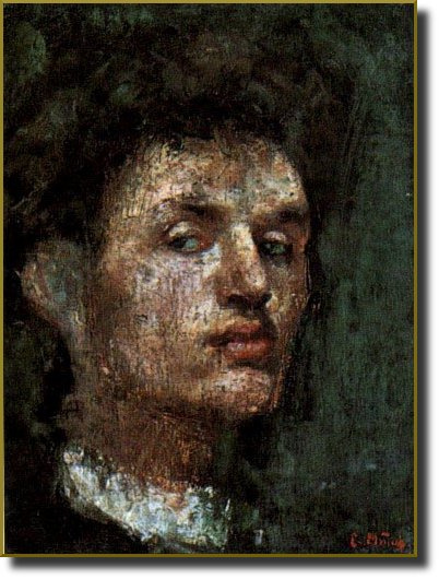 Edvard Munch. Self-portrait
