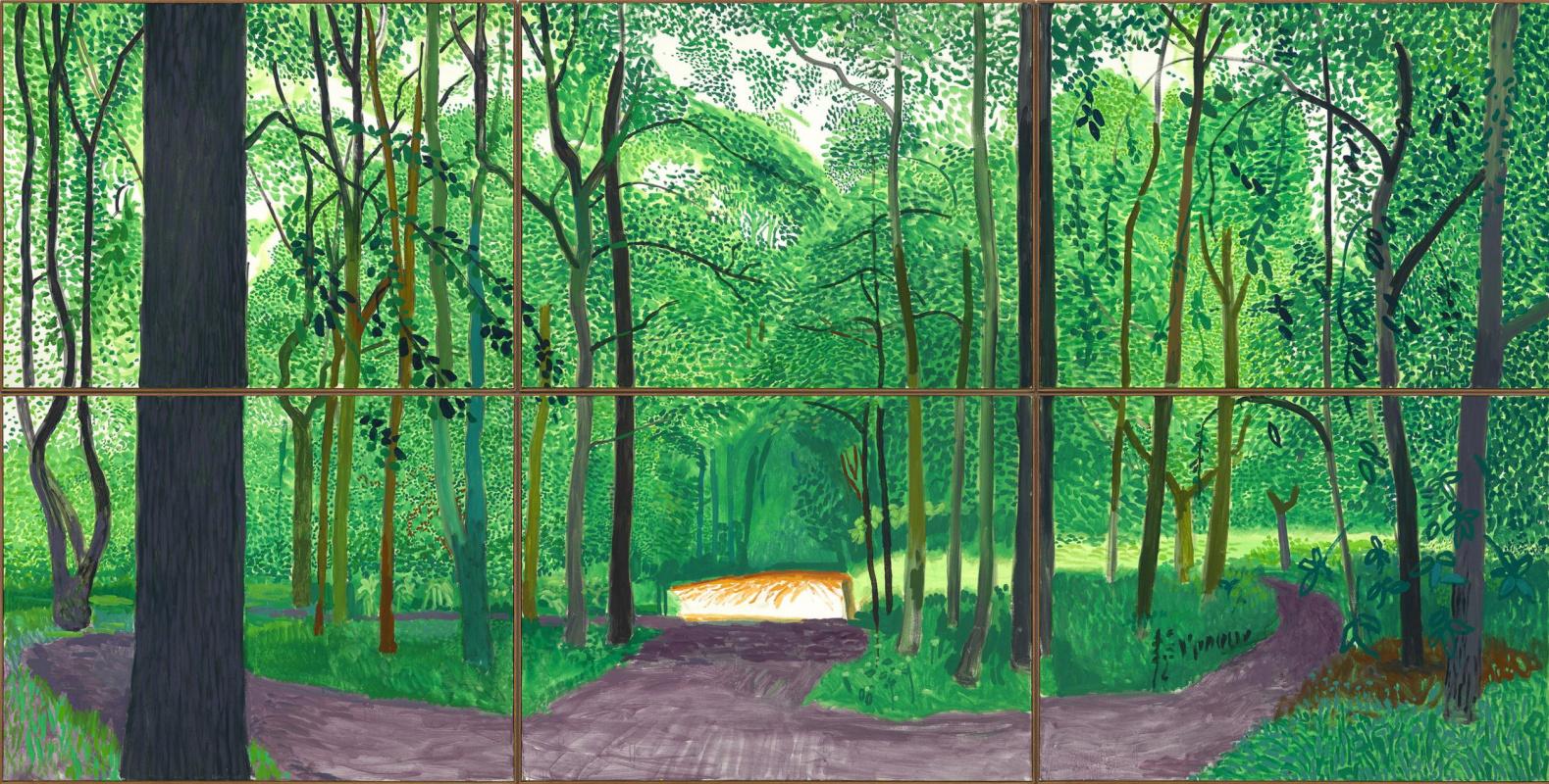 David Hockney. Woldgate Woods, 26, 27 & 30 July 2006