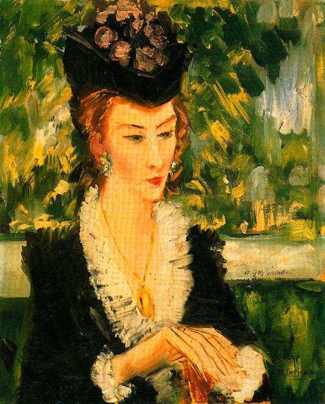 Исмаэль Гонсалес де ла Серна. Женщина в шляпке