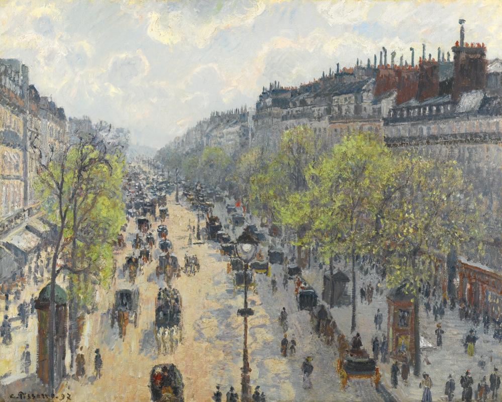 Camille Pissarro. Montmartre Boulevard. Spring morning