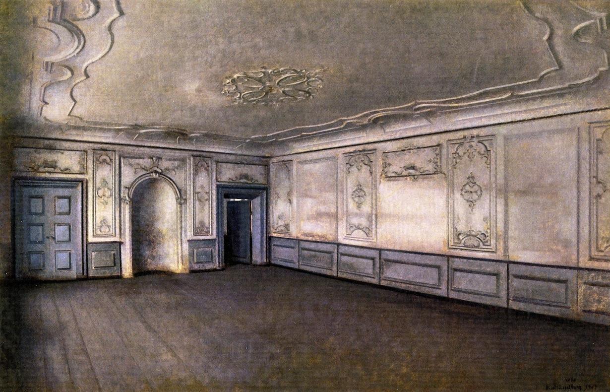 Vilhelm Hammershøi. Interior of the Great Hall in Lindaarden