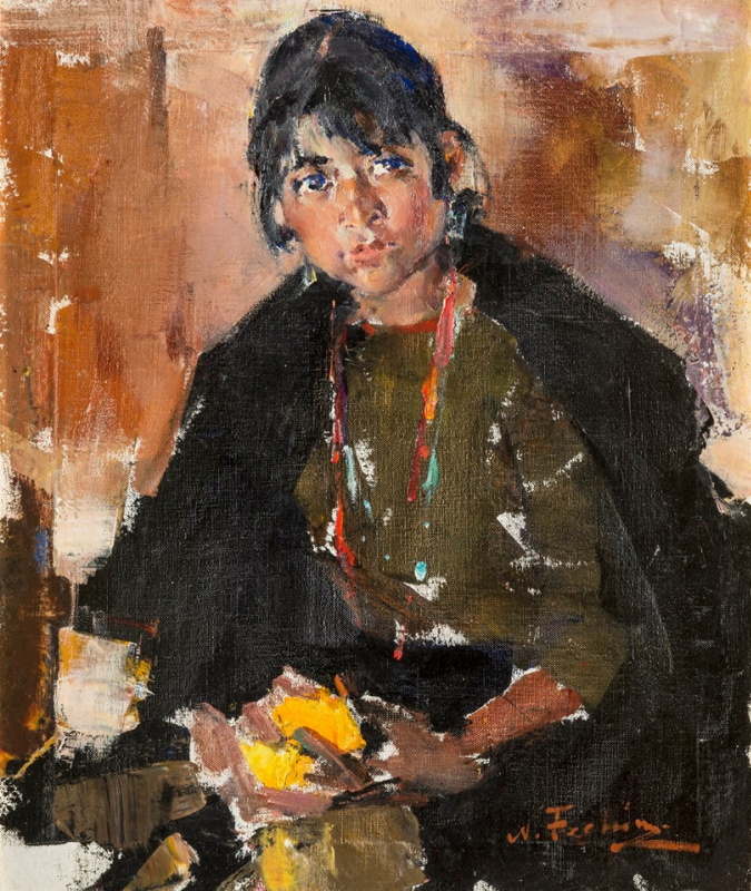 Portrait of a Taos Girl