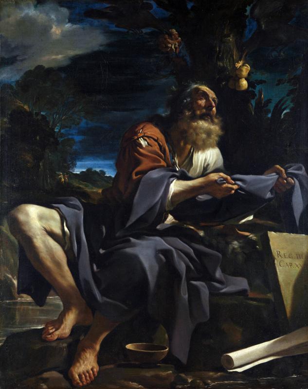 Джованни Франческо Гверчино. Илию кормили вороны