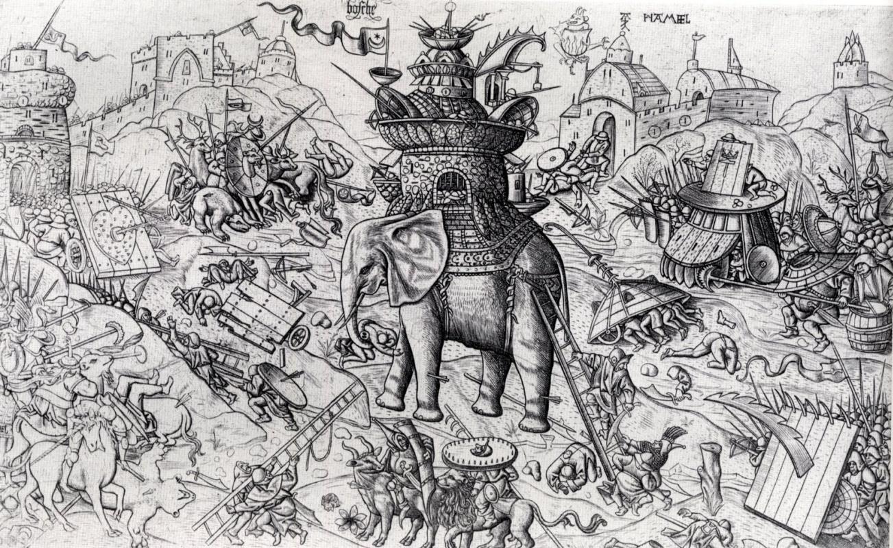 Алаэрт Ди  Хамель. Слон (в стиле Иеронима Босха)