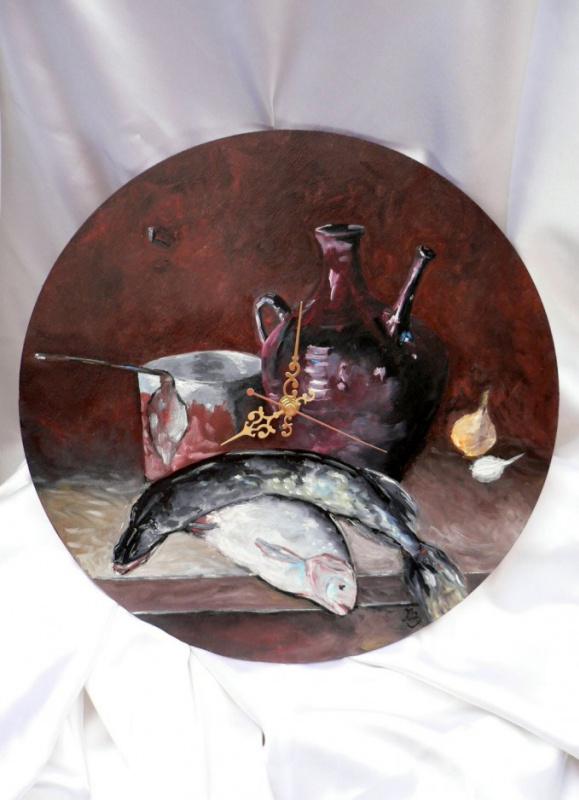 Сергей Николаевич Ходоренко-Затонский. A jug of wine and fish