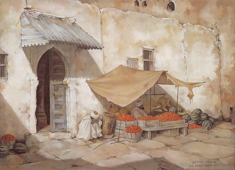 Anton Pieck. Rabat street El GZA. Morocco
