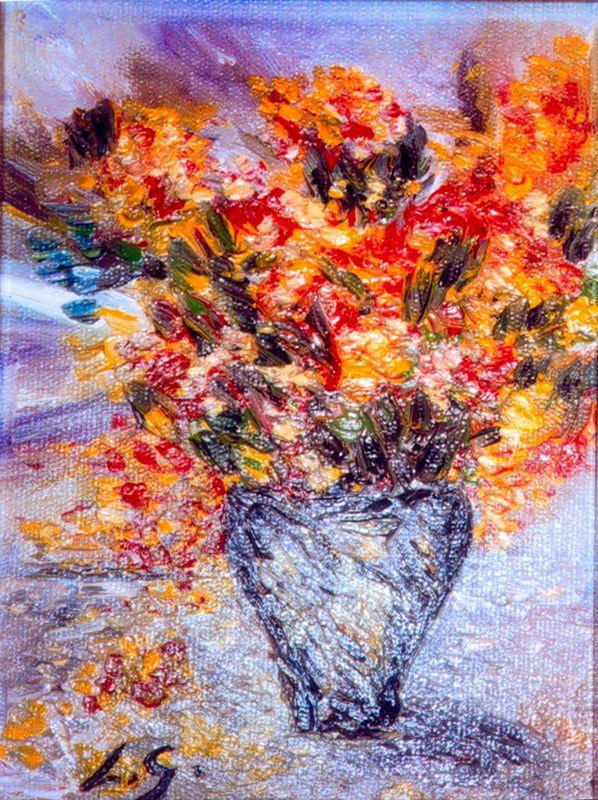Гонсалес Муньос. Цветы в вазе
