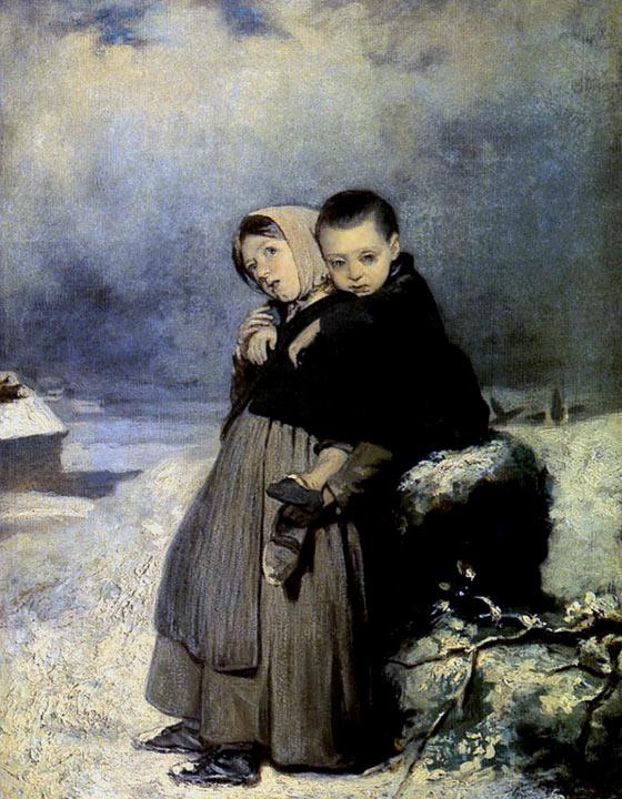 Василий Григорьевич Перов. Дети-сироты на кладбище