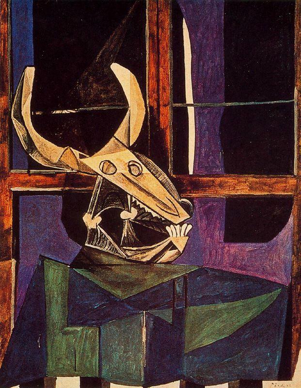 Пабло Пикассо. Натюрморт с бычьим черепом