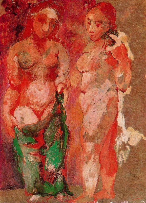 Пабло Пикассо. Две обнаженные женщины
