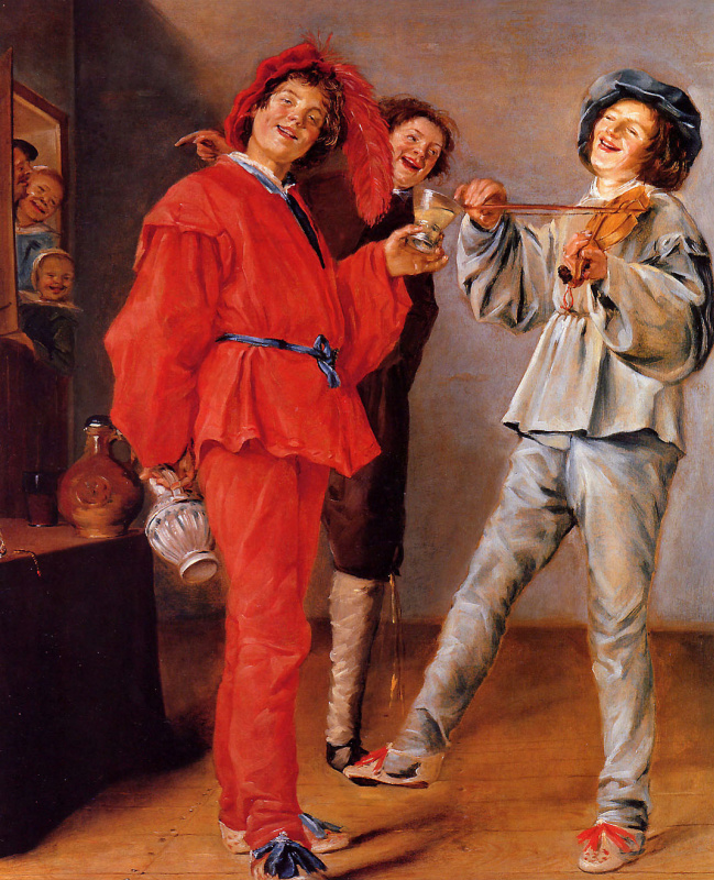 Judith Leyster. Cheerful trio
