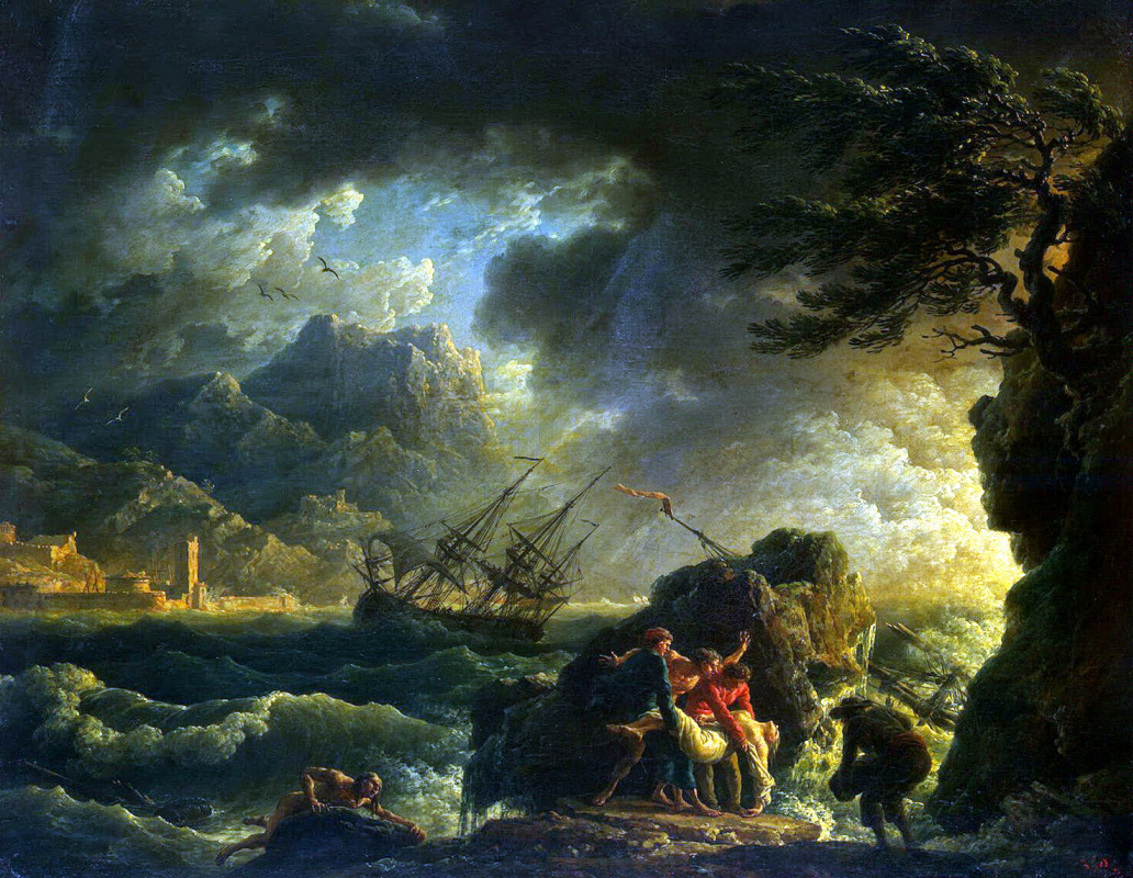 Клод Жозеф Верне. Кораблекрушение