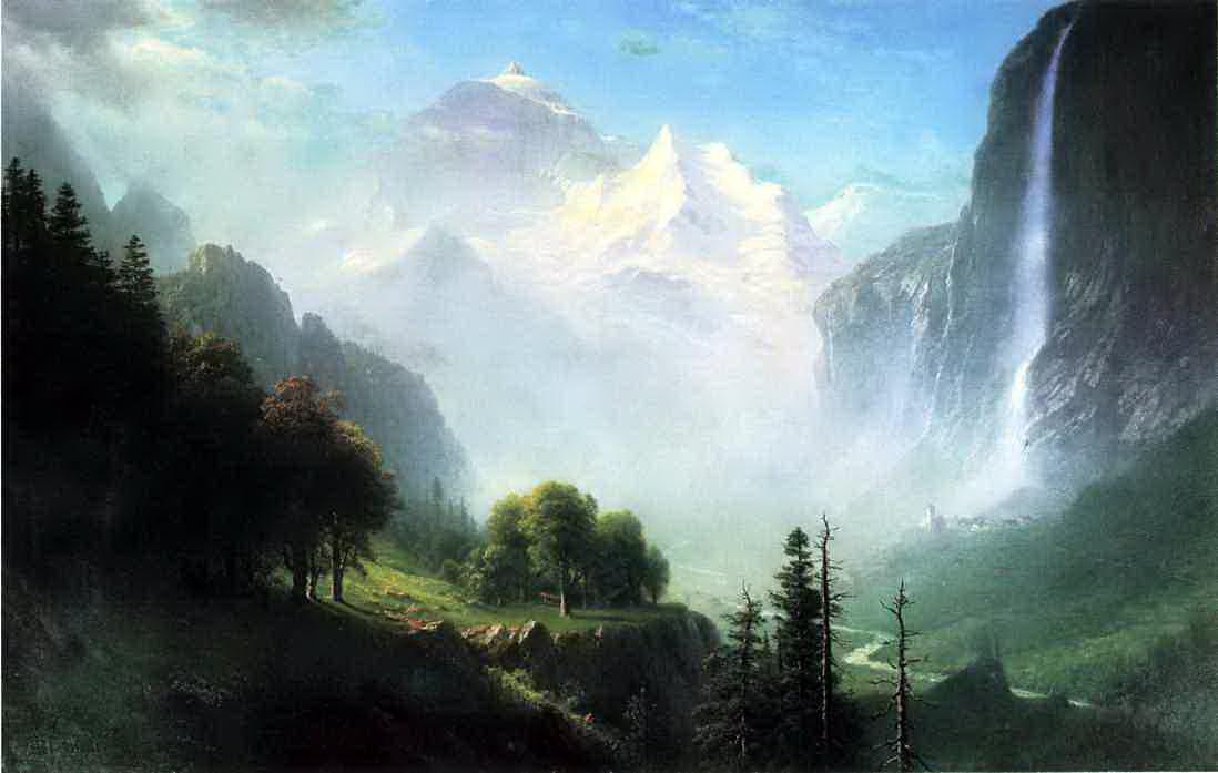 Альберт Бирштадт. Водопад Стауббах около Лаутербруннен