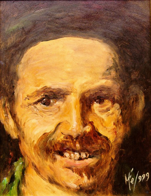 Мари Ромеро Кампо. Портрет улыбающегося мужчины