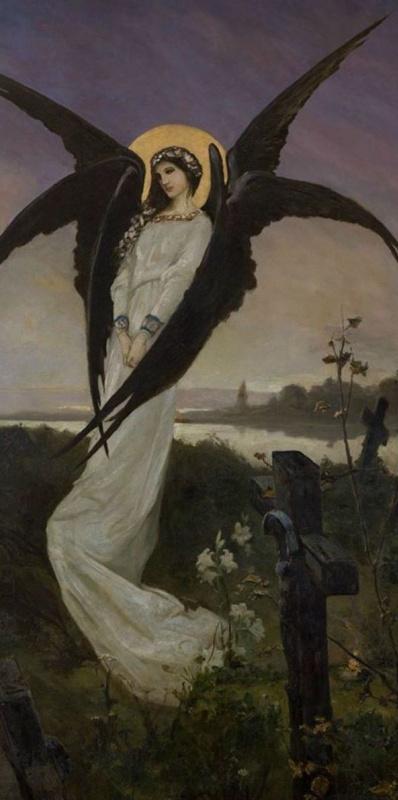 Wilhelm Kotarbinsky. Angel of sadness (angel of death)